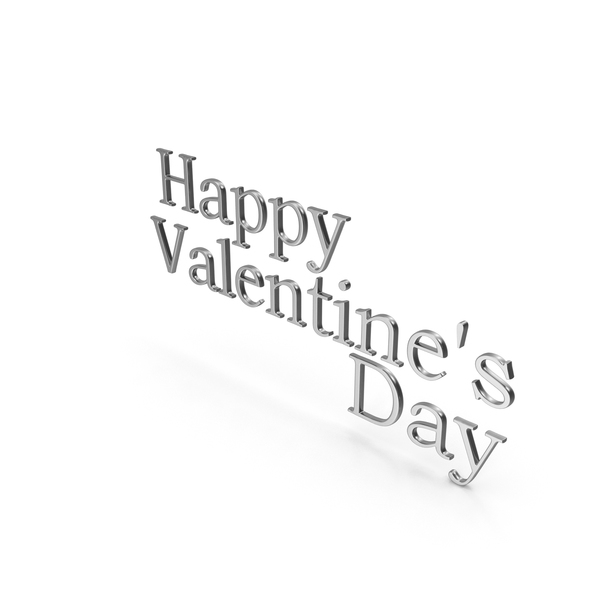 Happy Valentine's Day Symbol Silver PNG & PSD Images