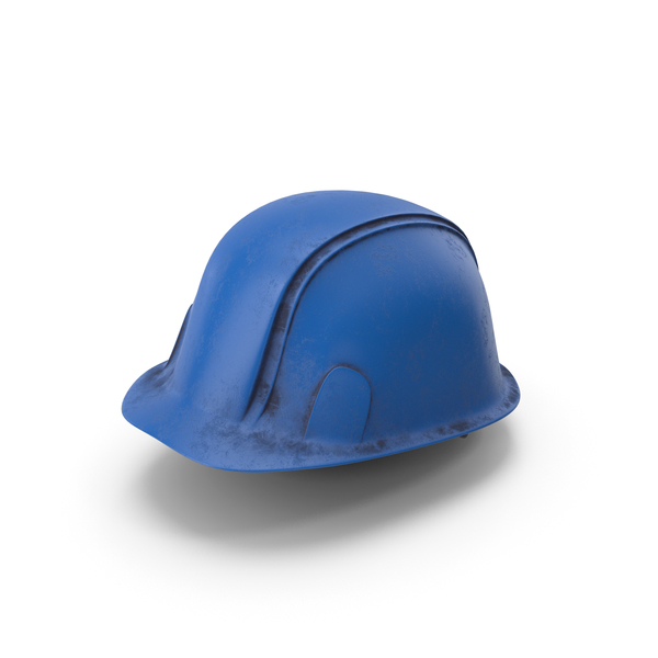 Hard Hat Dirty Blue PNG & PSD Images