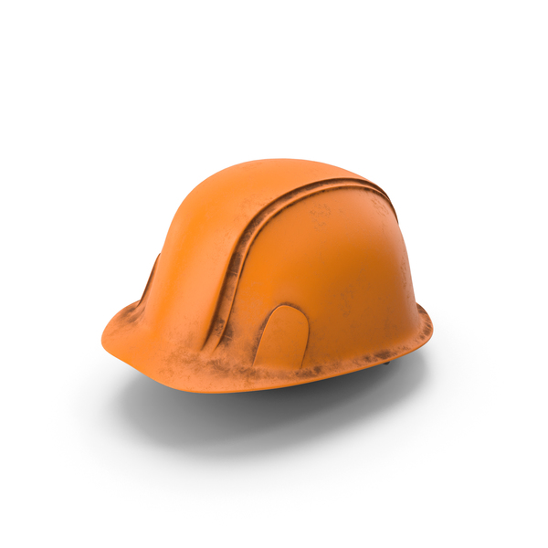 Hard Hat Dirty Orange PNG & PSD Images