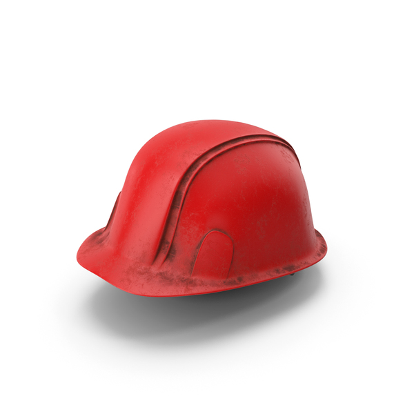 Hard Hat Dirty Red PNG & PSD Images