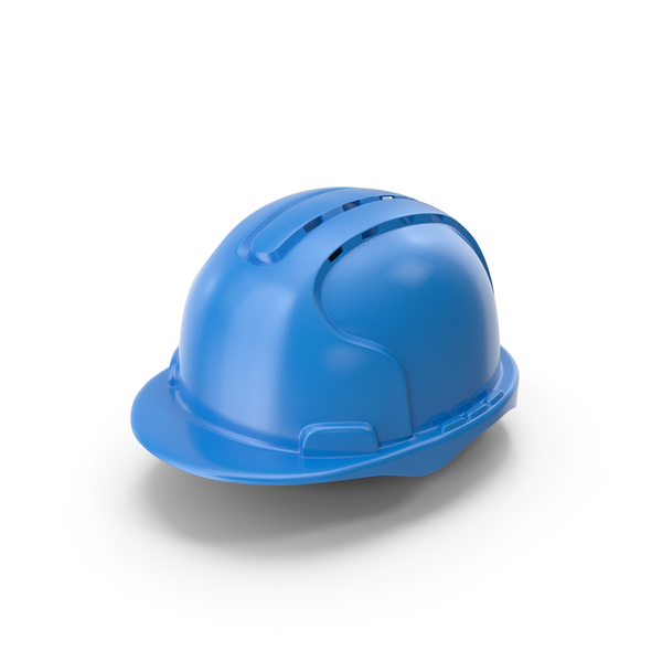 Hard Hat With Aeration Blue PNG & PSD Images