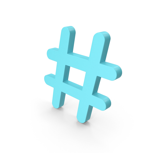 Pound Sign: Hashtag Blue PNG & PSD Images