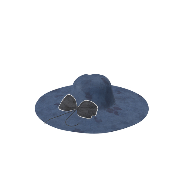 Hat With Bow Blue A Dirty PNG & PSD Images
