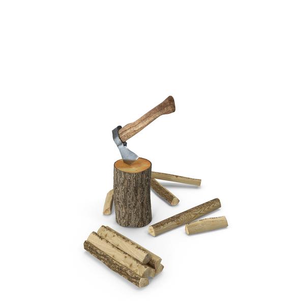 Hatchet Split Wood PNG & PSD Images