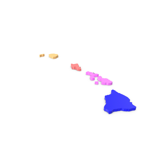 State: Hawaii Counties Map PNG & PSD Images
