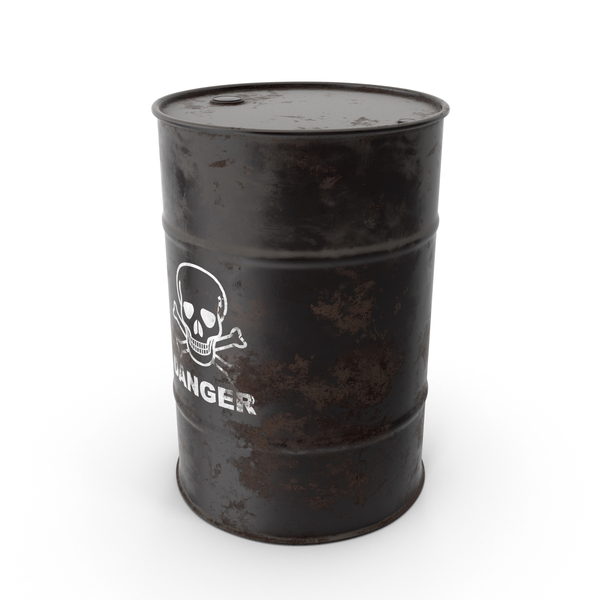 Waste Disposal: Hazardous Barrel PNG & PSD Images