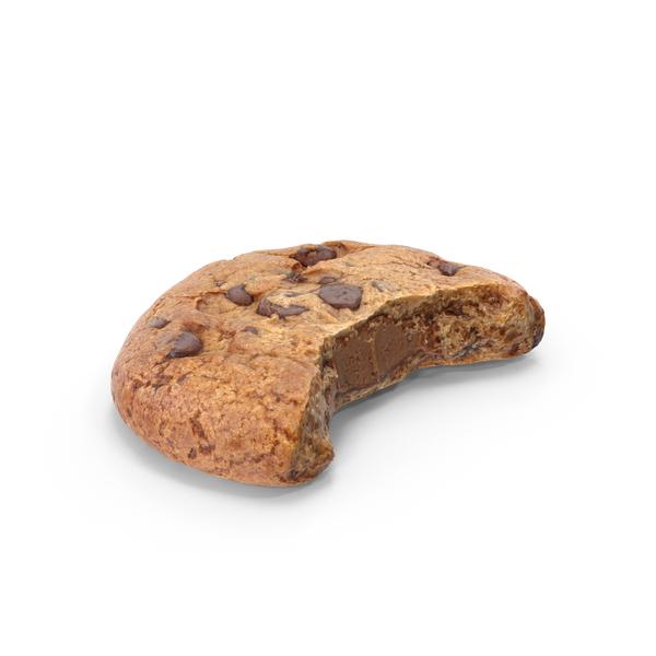 Hazelnut Cookie Bitten PNG & PSD Images