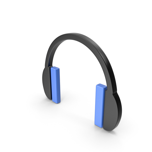 Headphones Icon Black and Blue PNG & PSD Images