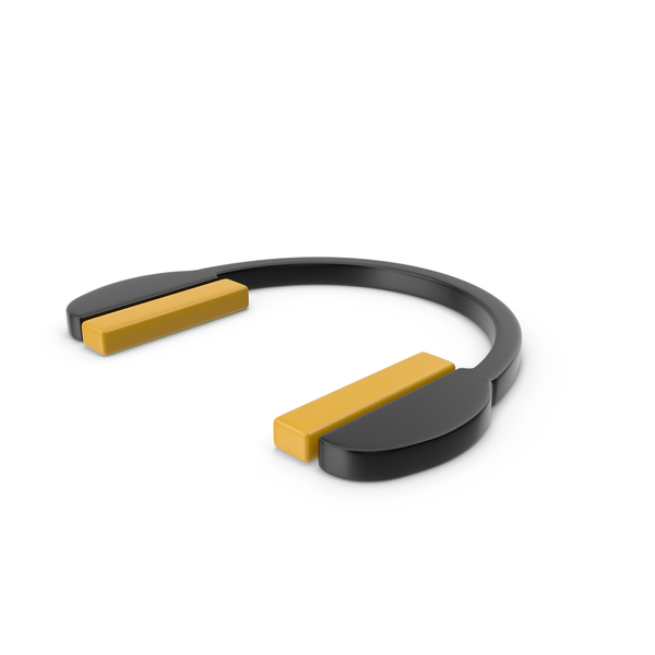 Headphones Icon Black and Yellow PNG & PSD Images