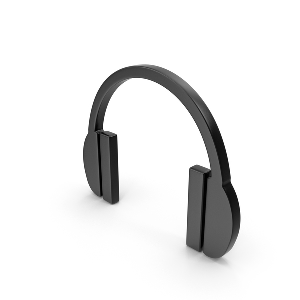 Headphones Icon Black PNG & PSD Images