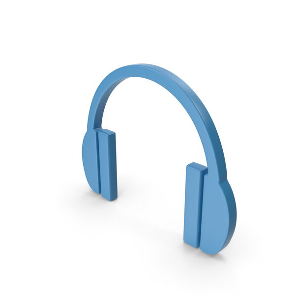 Headphones Icon Blue PNG & PSD Images