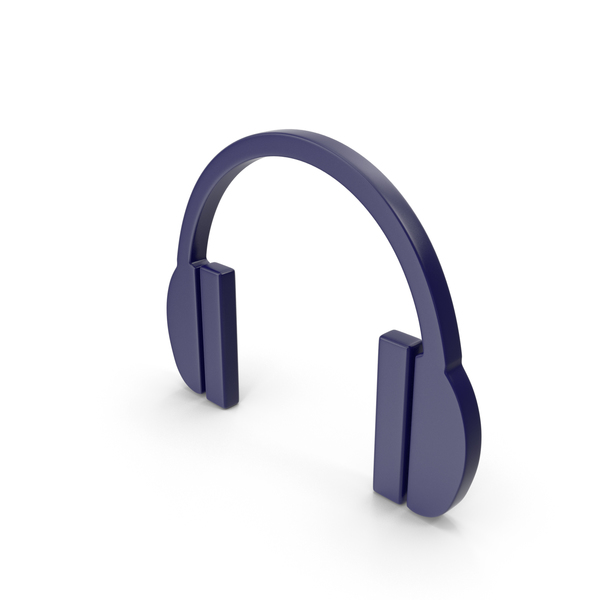 Headphones Icon Dark Blue PNG & PSD Images