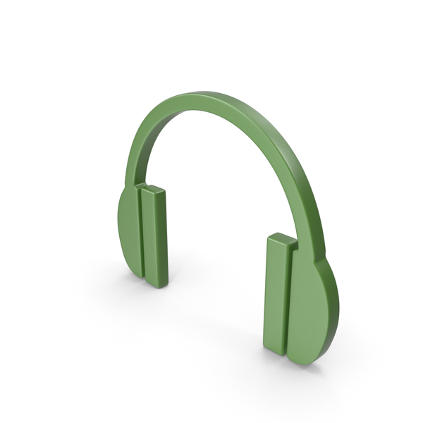 Headphones Icon Green PNG & PSD Images