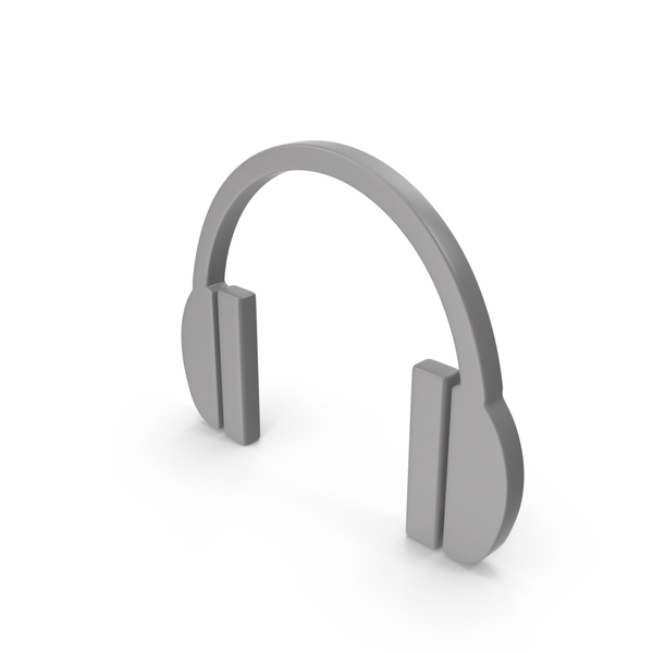Headphones Icon Grey PNG & PSD Images