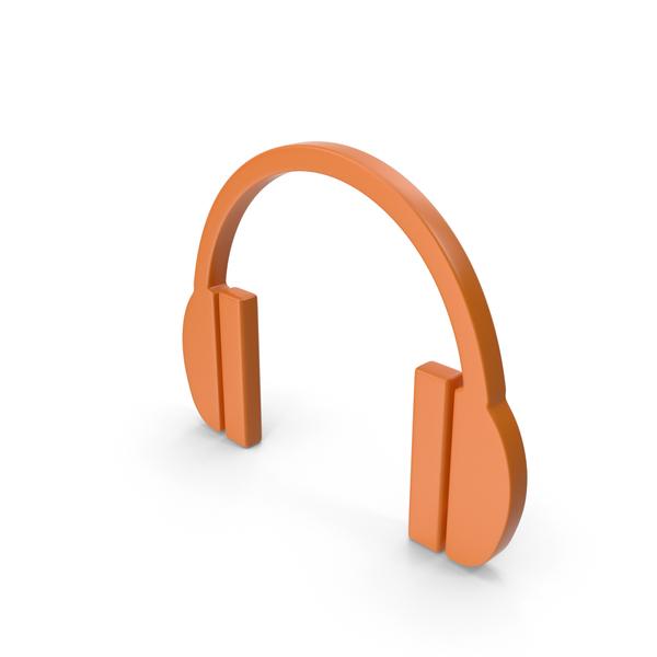 Computer: Headphones Icon Orange PNG & PSD Images