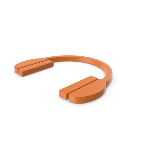 Headphones Icon Orange PNG & PSD Images