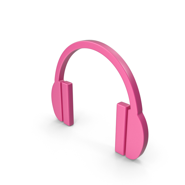 Headphones Icon Pink PNG & PSD Images