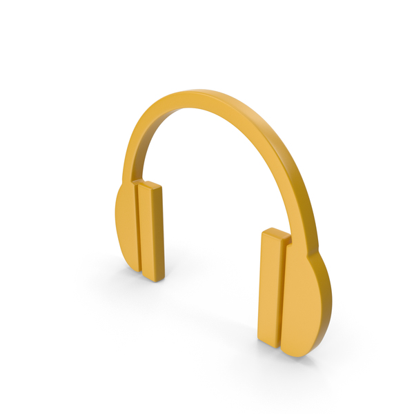 Computer: Headphones Icon Yellow PNG & PSD Images