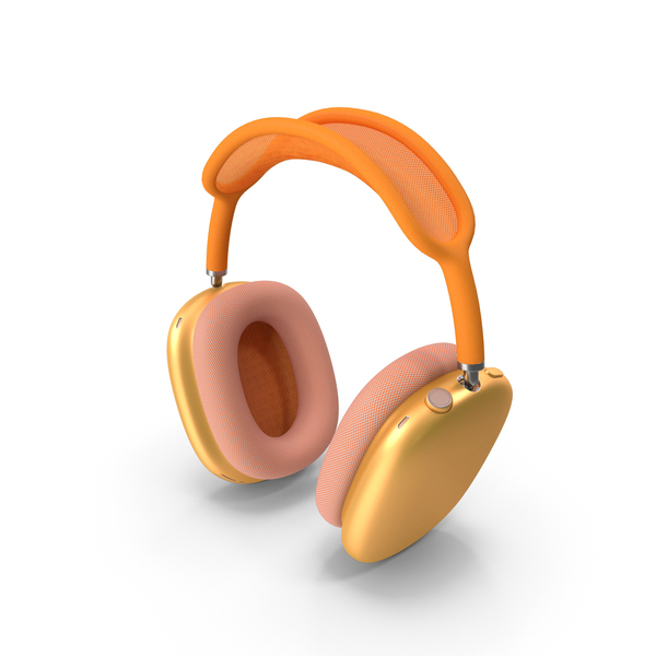 Headphones Orange PNG & PSD Images