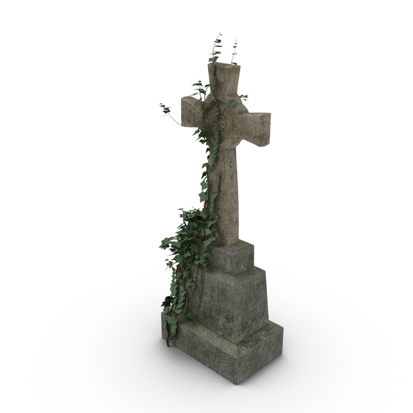 Grave: Headstone with Cross PNG & PSD Images