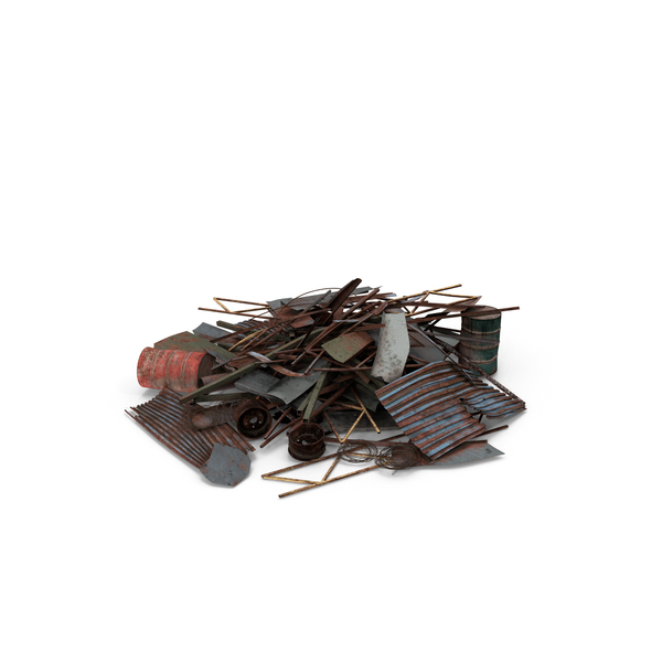 Heap of Metal Debris PNG & PSD Images