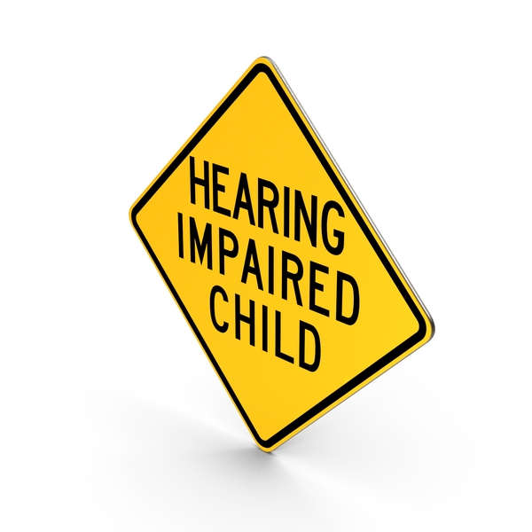Hearing Impaired Child Pennsylvania Road Sign PNG & PSD Images