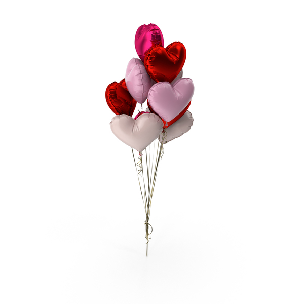 Heart Balloon Bouquet PNG & PSD Images