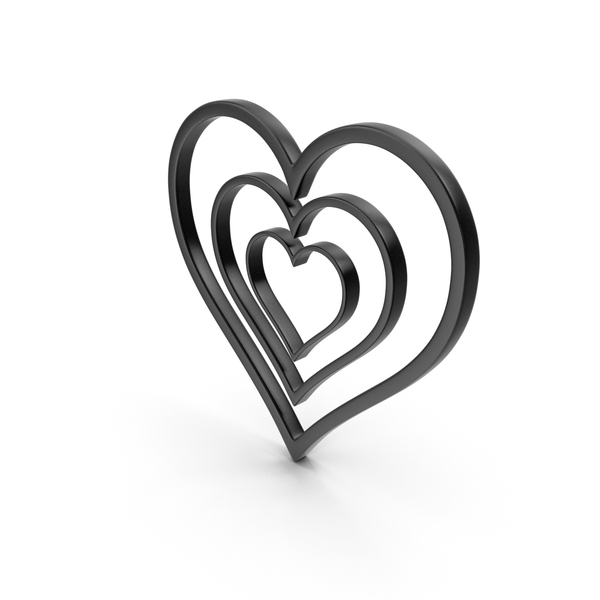 Heart Shaped Candy: Heart Black Icon PNG & PSD Images