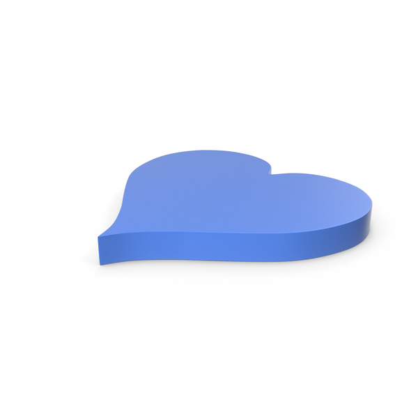 Shape: Heart Blue Icon PNG & PSD Images
