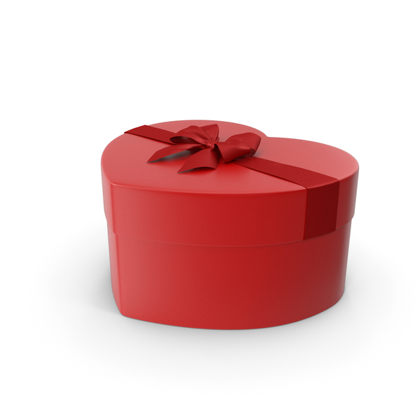 Gift: Heart Box Closed Red PNG & PSD Images