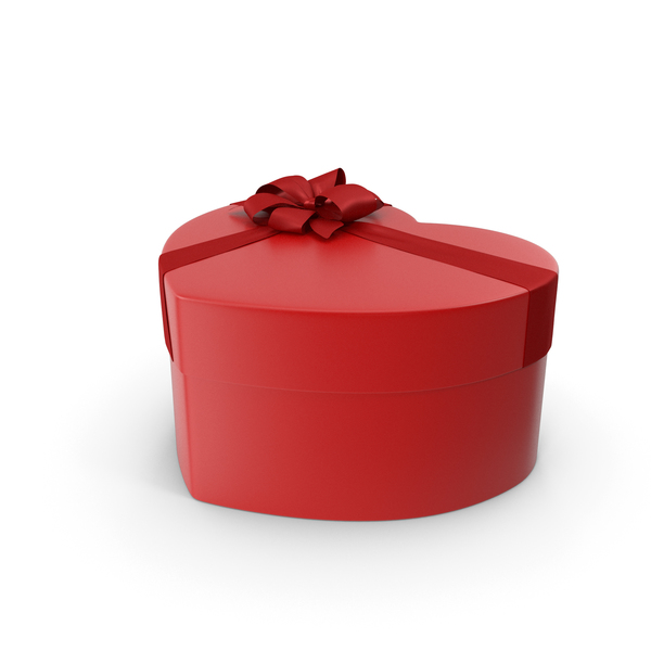 Gift: Heart Box Red PNG & PSD Images