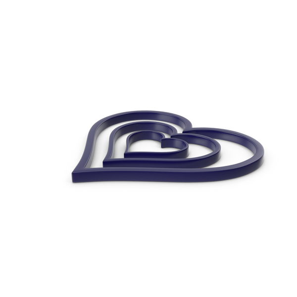 Heart Shaped Candy: Heart Dark Blue Icon PNG & PSD Images