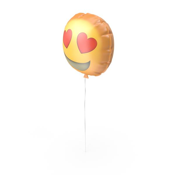 Heart Eyes Emoji Ballon PNG & PSD Images