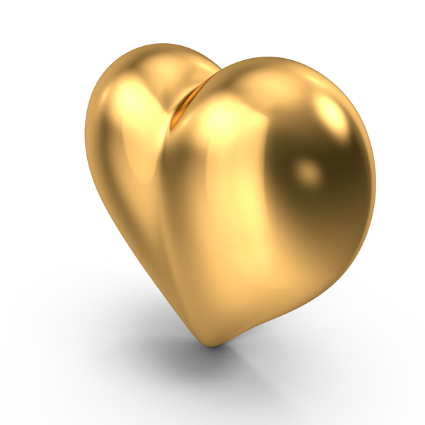 Heart Shaped Candy: Heart Gold PNG & PSD Images