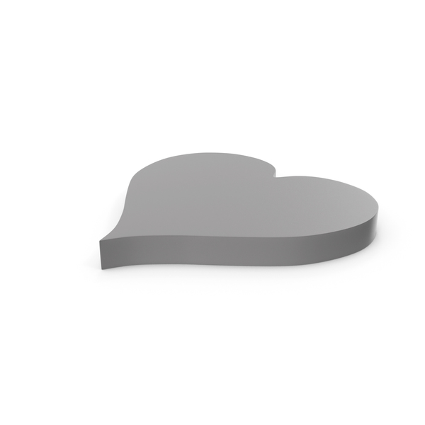 Heart Shaped Candy: Heart Grey Icon PNG & PSD Images