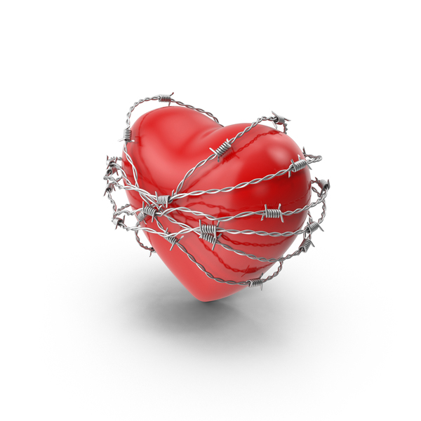 Shape: Heart in Barbed Wire PNG & PSD Images