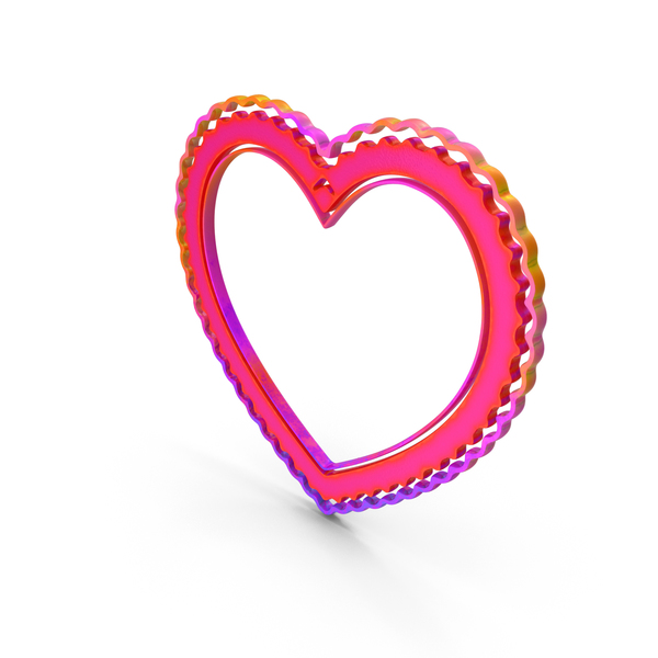 Picture: Heart Love Frame Color PNG & PSD Images