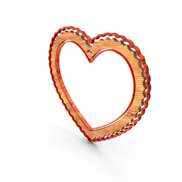 Picture: Heart Love Frame Wood PNG & PSD Images