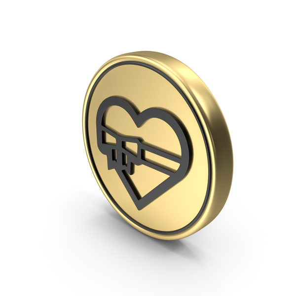 Heart Love Gift Coin Logo Icon PNG & PSD Images