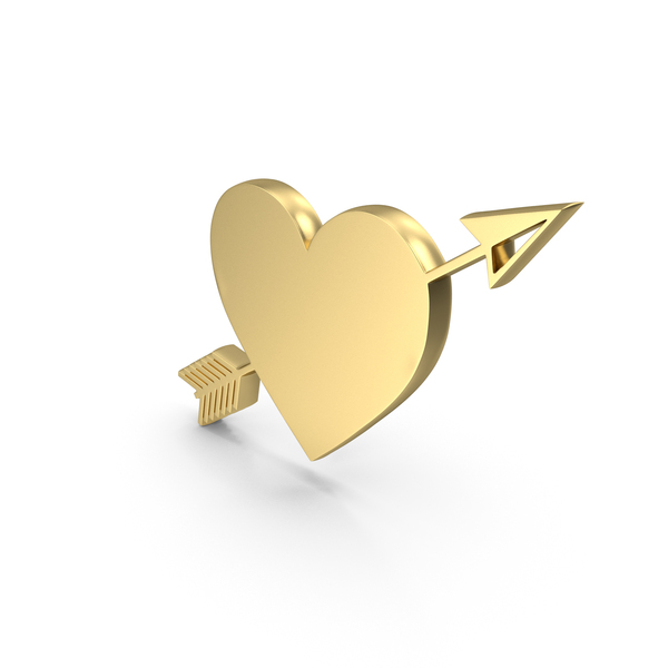 Heart Shaped Candy: Heart Love Gold PNG & PSD Images