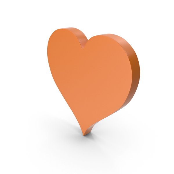 Heart Shaped Candy: Heart Orange Icon PNG & PSD Images