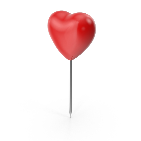 Thumbtack: Heart Push Pin PNG & PSD Images