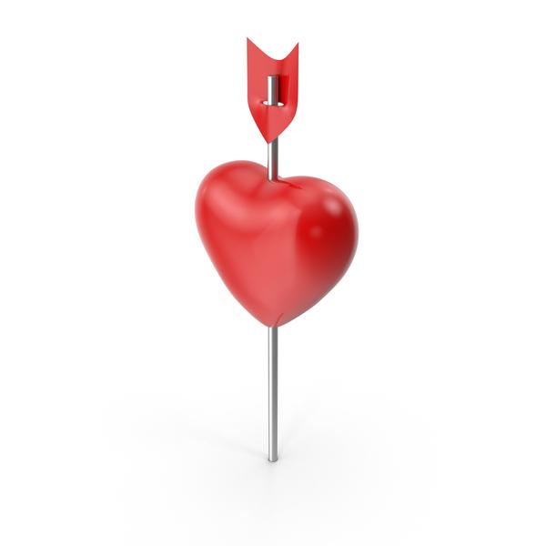 Thumbtack: Heart Push Pin PNG & PSD Images
