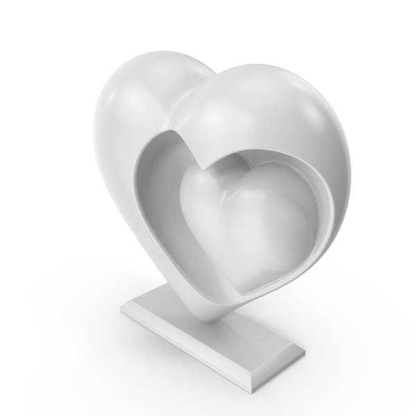 Heart Sculpture PNG & PSD Images