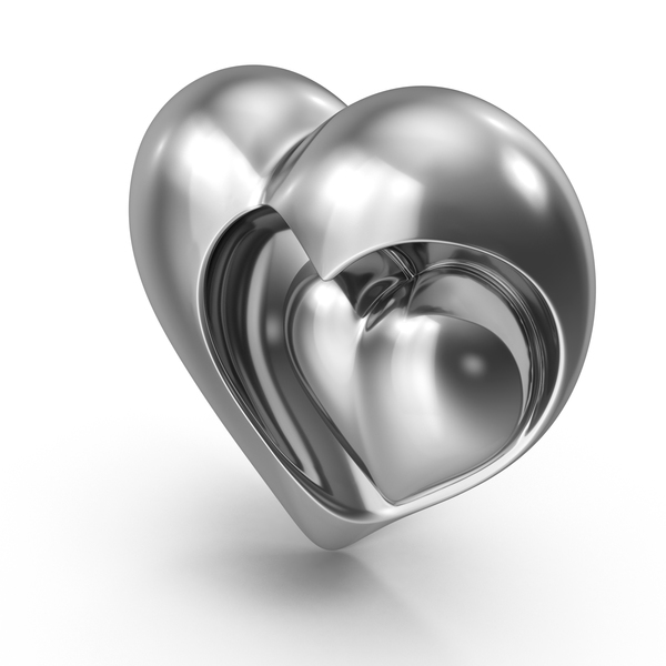 Heart Sculpture Steel PNG & PSD Images