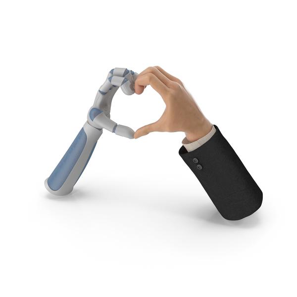 Heart Shape Hands Human Technology PNG & PSD Images