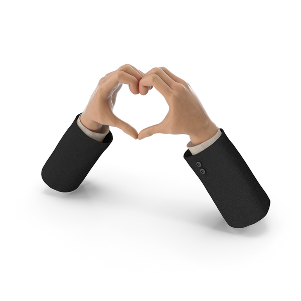 Heart Shape Hands Suit PNG & PSD Images