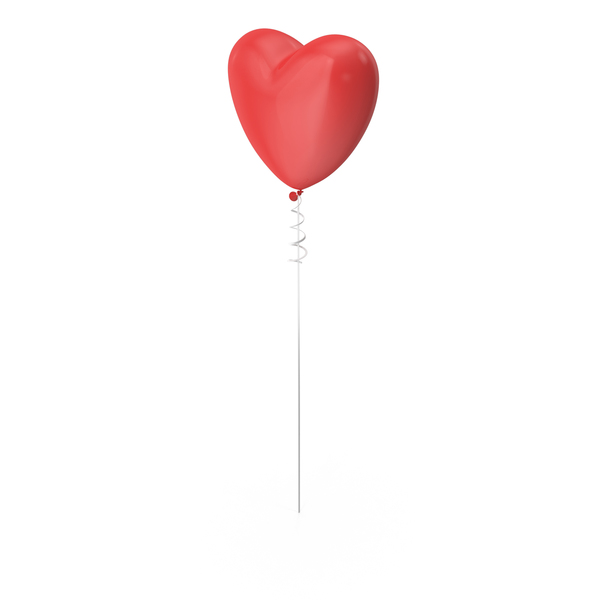 Valentine's Balloons: Heart Shaped Balloon PNG & PSD Images