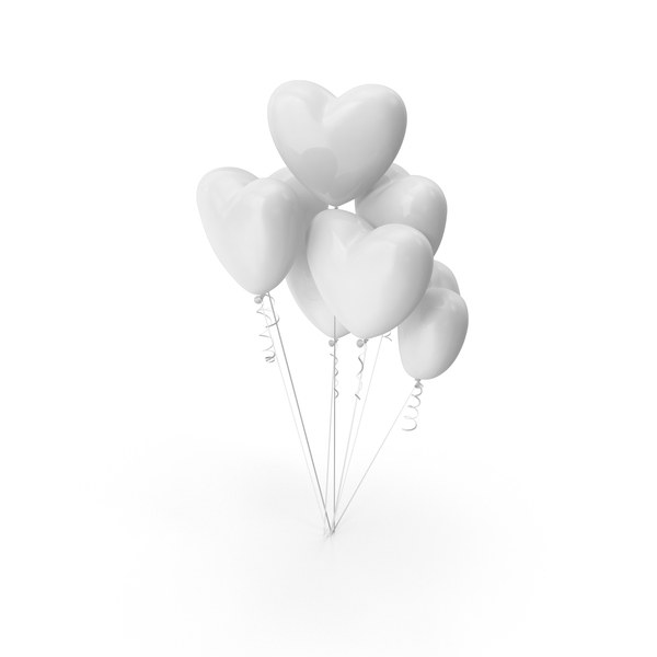 Valentine's: Heart Shaped Balloons PNG & PSD Images