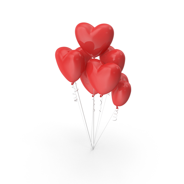 Heart Shaped Balloons PNG & PSD Images